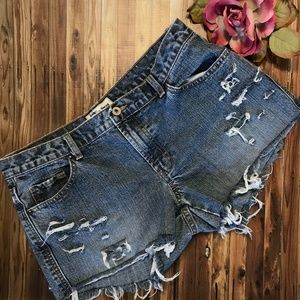 Old Navy Cutoff Jean Shorts Distressed 12